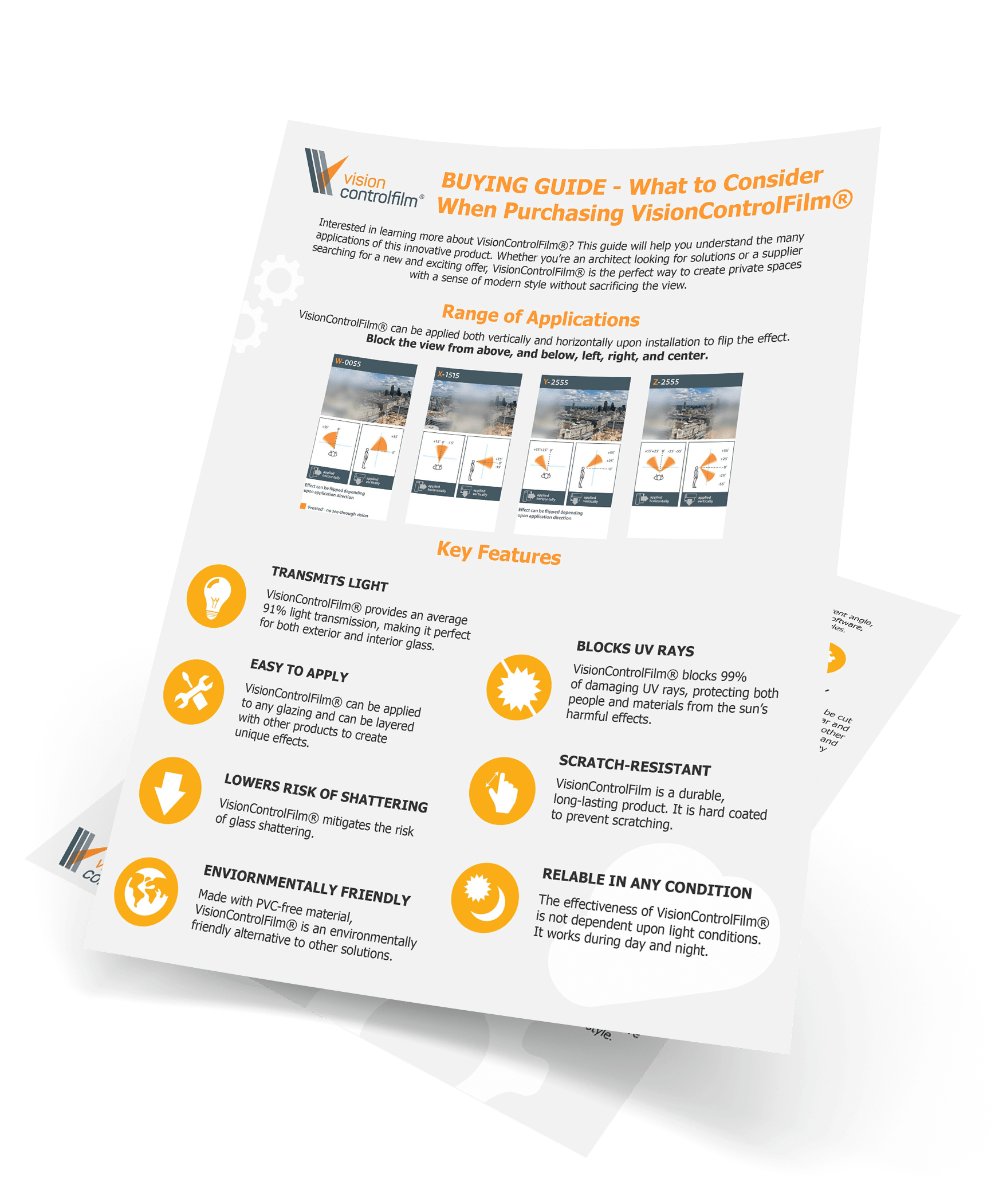 Buying Guide – What To Consider When Purchasing VisionControlFilm®